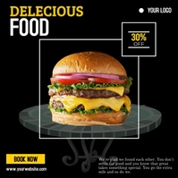 Delicious Food Сообщение Instagram template