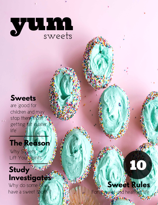 copy of food dessert magazine cover template