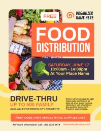 Food Distribution Flyer Рекламная листовка (US Letter) template