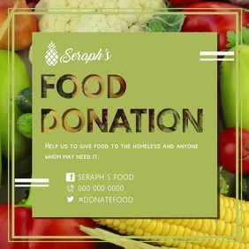 Food Donation Drive Square Video