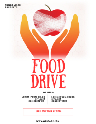Food Drive Charity Flyer Template