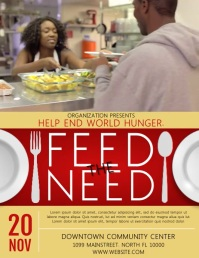 FEED THE HOMELESS Flyer (US Letter) template