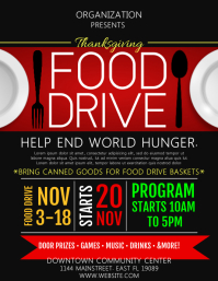 Food Drive Flyer (US Letter) template