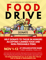 Food Drive ใบปลิว (US Letter) template