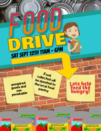 Food Drive Event Fundraiser Flyer