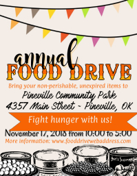 4 300 customizable design templates for food drive postermywall