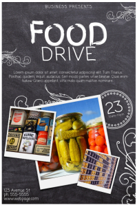 Customizable Design Templates for Food Drive Template | PosterMyWall