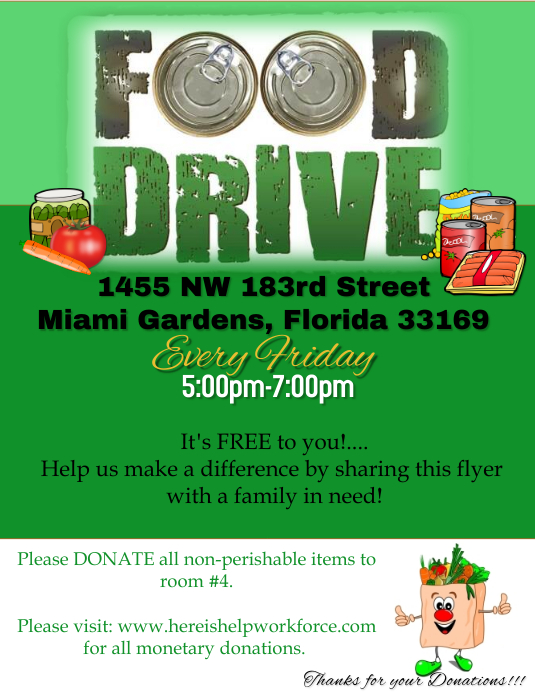 food drive flyer template postermywall