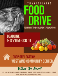 Customizable Design Templates for Food Drive | PosterMyWall