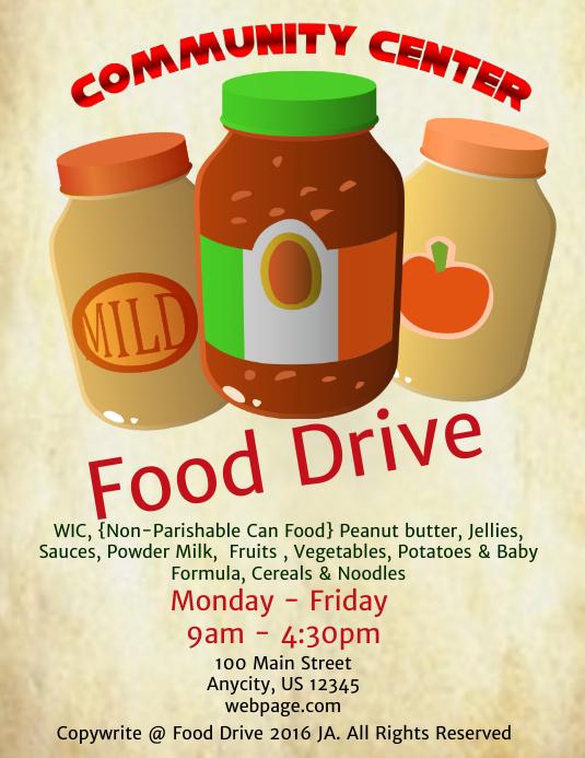 Free Editable Food Drive Flyer