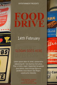 Food Drive Flyer Template Poster