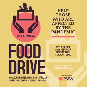 Food Drive Instagram Post