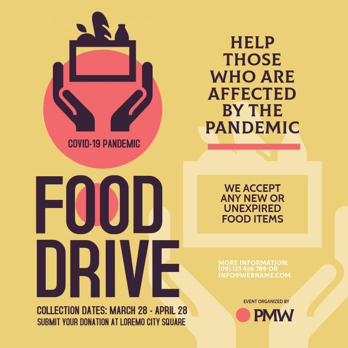 Food Drive Instagram Post template