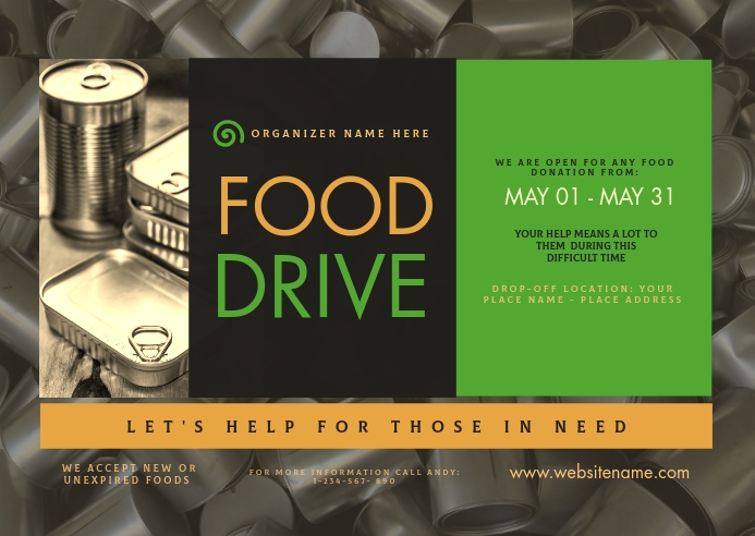 Food Drive Postcard Briefkaart template