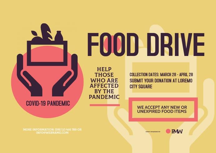 Food Drive Postcard