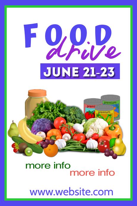 Food Drive Poster โปสเตอร์ template