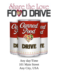 Flyer. Food Drive Template  Can Food Drive Flyer Template