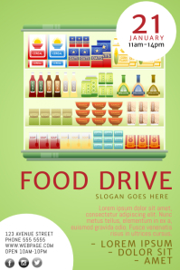 Food Drive Flyer Template Intended Can Food Drive Flyer Template