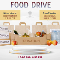 Food Drive Ration Campaign Instagram Post Tem template