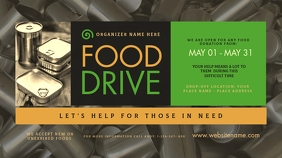 Food Drive Twitter Post template