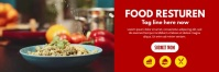 Food Facebook Cover Banner 2' × 6' template
