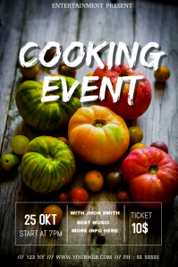 food fest event flyer template