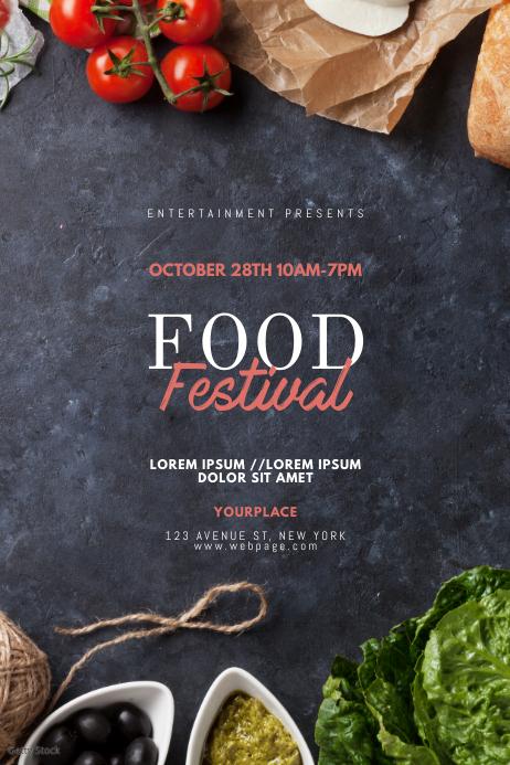 Food Festival Flyer Design Template