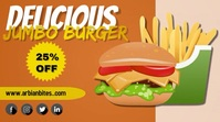 Food flyer Twitch Banner template