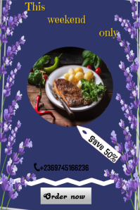 Food flyer Poster template