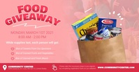 Food Giveaway Facebook Shared Image template
