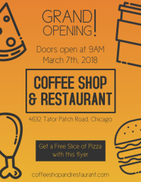 Food Grand Opening Flyer Templates