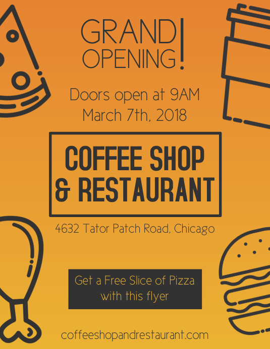 copy of food grand opening flyer templates