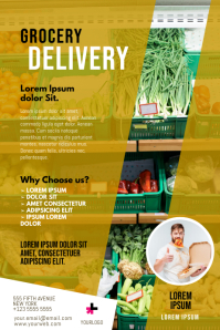 Food Grocery Delivery Flyer Template