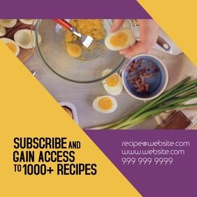 Plantilla De Alimentos Saludables Recetas Instagram Post Postermywall