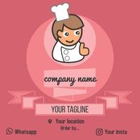 Food Logo For Social Media template