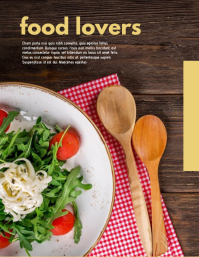 Food Lovers Flyer (US Letter) template