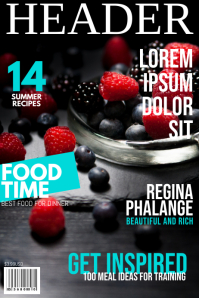 Food magazine Cover Template Poster