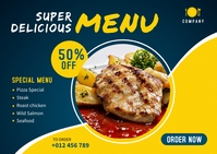 Food Menu Banner Template Kartu Pos