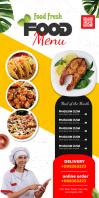 food menu Roll Up na Banner 3' × 6' template