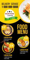 Food Menu Rul-op banner 3' × 6' template