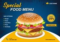 Food Menu Design Template Открытка