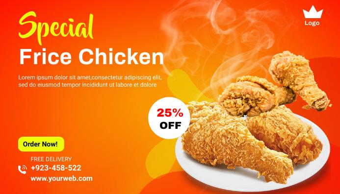 Food menu promotion Blog Header template