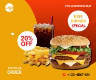Food menu promotion Larger Rectangle 巨型广告 template