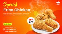 Food menu promotion twitter post banner template