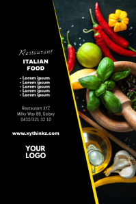 Food Menu Restaurant Bistro Flyer Poster ad template