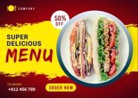 Food Menu Social Media Template Carte postale
