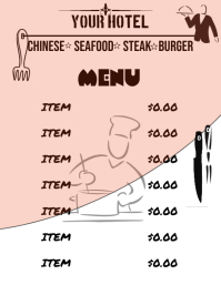 Food Menu Template Flyer (US Letter)