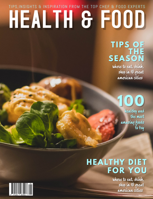 Food Network Magazine Cover Template Ulotka (US Letter)