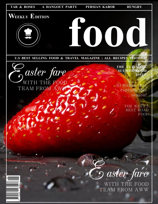 Food Network Magazine Cover Template Volantino (US Letter)