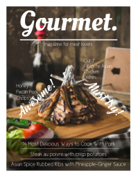 Food Network Magazine Cover Template ใบปลิว (US Letter)